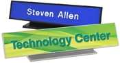 Architectural Aluminum Desk Sign