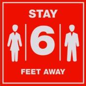 Social Distancing 6 feet distance sign